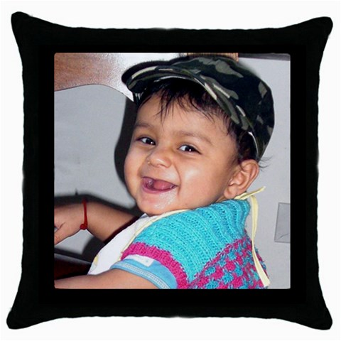 By Anu   Throw Pillow Case (black)   L4pdbrt7lqxm   Www Artscow Com Front