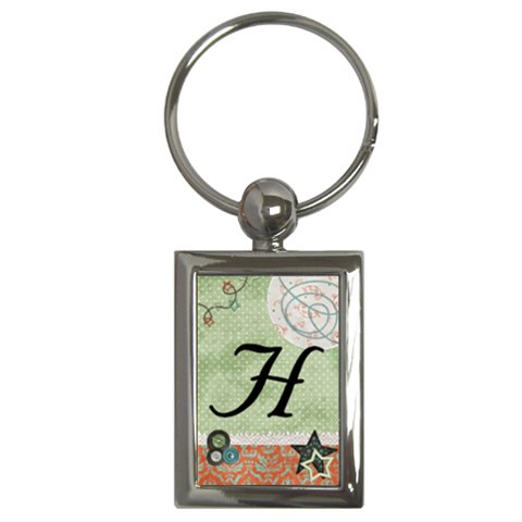 H Keychain By Holly   Key Chain (rectangle)   Gtpdtlaflup9   Www Artscow Com Front
