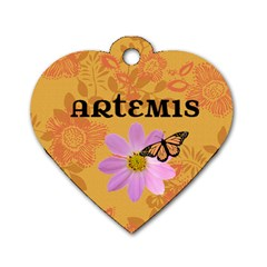 Artemis Tag By Sunny   Dog Tag Heart (two Sides)   Np5q796jh5kd   Www Artscow Com Front