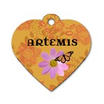 Artemis tag - Dog Tag Heart (Two Sides)