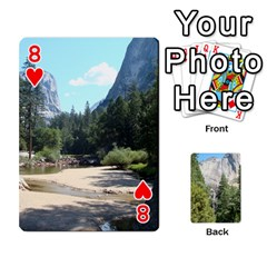 Yosemite Cards By Amy Barton   Playing Cards 54 Designs   3x9hom9gt9cu   Www Artscow Com Front - Heart8