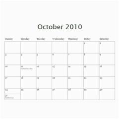 Anniversary Gift By Mallory   Wall Calendar 11  X 8 5  (12 Months)   G1rlamcvj44u   Www Artscow Com Oct 2010