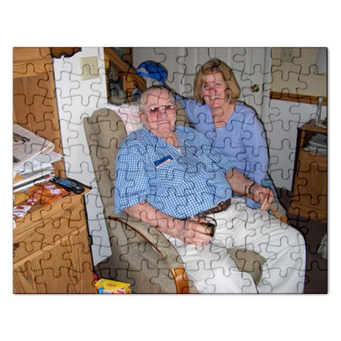 My Dad And I By Nancy   Jigsaw Puzzle (rectangular)   Hxj7zmg2tqmb   Www Artscow Com Front