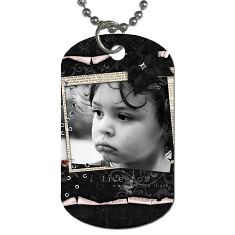 Daddy s Day Gift By Creative Chaos   Dog Tag (one Side)   Qpoiuklsciqn   Www Artscow Com Front