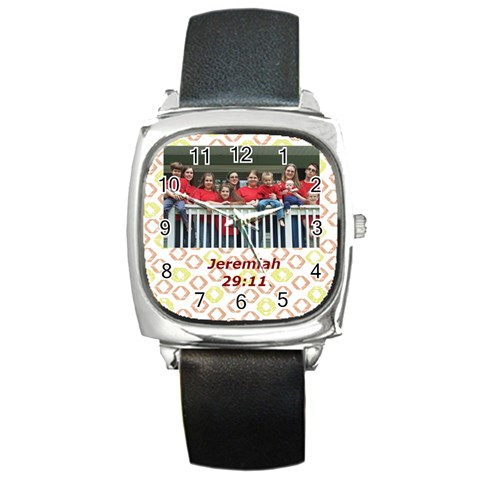 Kidz Watch By Kirsten Irish   Square Metal Watch   5rynvgzp9bfk   Www Artscow Com Front
