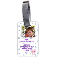 Cartel By Lydia   Luggage Tag (two Sides)   99tdrxhf6erl   Www Artscow Com Front