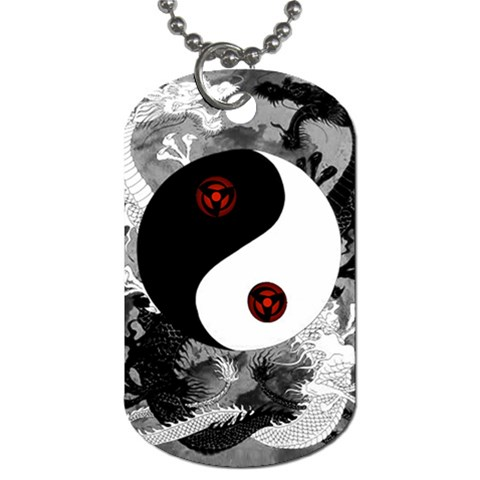 Sharingan Dragon By Filipe Almeida   Dog Tag (one Side)   Sufmwx17c4uv   Www Artscow Com Front