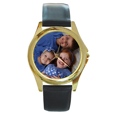 Gold Watch By Brandy   Round Gold Metal Watch   1fwpjyzt10o9   Www Artscow Com Front