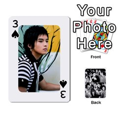 Suju Playing Cards By Mia Story   Playing Cards 54 Designs   W8tp8dk6qnxd   Www Artscow Com Front - Spade3