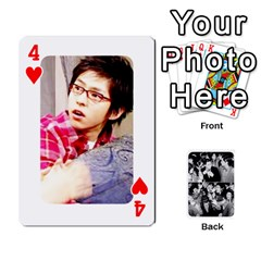 Suju Playing Cards By Mia Story   Playing Cards 54 Designs   W8tp8dk6qnxd   Www Artscow Com Front - Heart4
