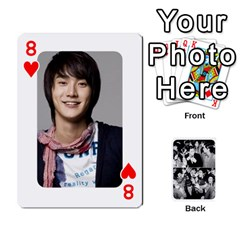 Suju Playing Cards By Mia Story   Playing Cards 54 Designs   W8tp8dk6qnxd   Www Artscow Com Front - Heart8