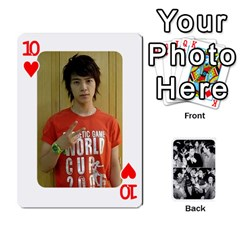 Suju Playing Cards By Mia Story   Playing Cards 54 Designs   W8tp8dk6qnxd   Www Artscow Com Front - Heart10