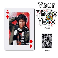 Suju Playing Cards By Mia Story   Playing Cards 54 Designs   W8tp8dk6qnxd   Www Artscow Com Front - Diamond4