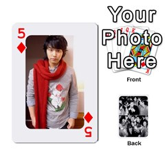 Suju Playing Cards By Mia Story   Playing Cards 54 Designs   W8tp8dk6qnxd   Www Artscow Com Front - Diamond5
