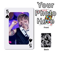 Suju Playing Cards By Mia Story   Playing Cards 54 Designs   W8tp8dk6qnxd   Www Artscow Com Front - Spade5