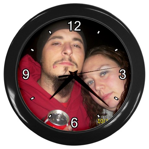 By Amber   Wall Clock (black)   K7y526fz3mpw   Www Artscow Com Front