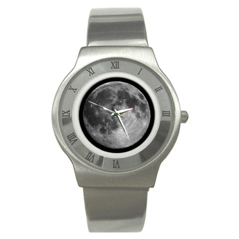 Luna Tic Watch By David Prosper   Stainless Steel Watch   73qsqfjaqdte   Www Artscow Com Front