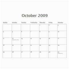 Family Calendar By Melinda   Wall Calendar 11  X 8 5  (12 Months)   Q2u90gu6zf7v   Www Artscow Com Oct 2009