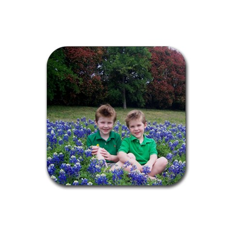 The Martin Boys By Candice   Rubber Coaster (square)   Pu3kla1xlg80   Www Artscow Com Front