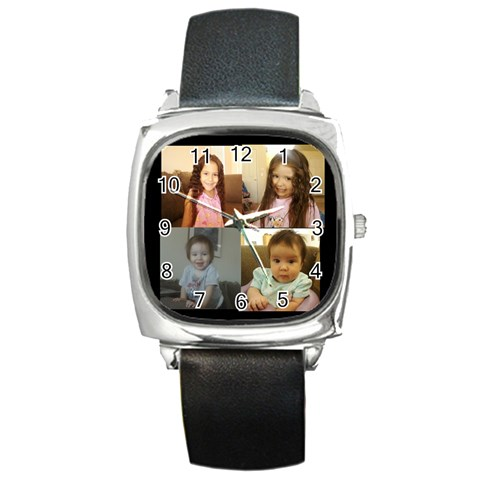 Daddy By Amy Romero   Square Metal Watch   5ugc9yxl0olu   Www Artscow Com Front