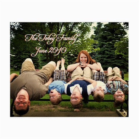 Glasses Cloth The Tobey Family Upside Down By Leah   Small Glasses Cloth   Ub34xi8atug5   Www Artscow Com Front