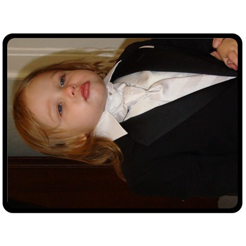Junior In His Tux By Andrea   Fleece Blanket (large)   6mshqb3zqxz9   Www Artscow Com 80 x60 Blanket Front