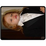 Junior in his tux - Fleece Blanket (Large)