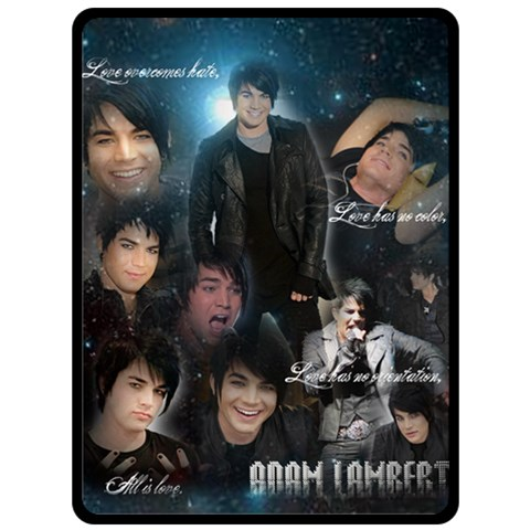 Adamlambertblanketrequested By Creativitymonster   Fleece Blanket (large)   4z08sk4jh3qr   Www Artscow Com 80 x60  Blanket Front