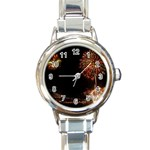 fireworks-color Round Italian Charm Watch