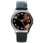 fireworks-color Round Metal Watch