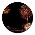 fireworks-color Round Mousepad