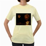 fireworks-color Women s Yellow T-Shirt