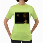 fireworks-color Women s Green T-Shirt