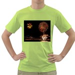 fireworks-color Green T-Shirt