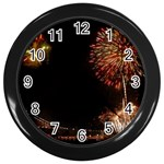 fireworks-color Wall Clock (Black)