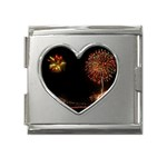 fireworks-color Mega Link Heart Italian Charm (18mm)