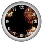 fireworks-color Wall Clock (Silver)