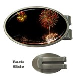 fireworks-color Money Clip (Oval)