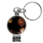 fireworks-color Nail Clippers Key Chain