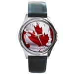 canadian-flag Round Metal Watch