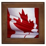 canadian-flag Framed Tile
