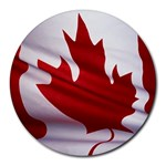 canadian-flag Round Mousepad