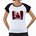 canadian-flag Women s Cap Sleeve T