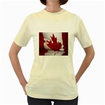 canadian-flag Women s Yellow T-Shirt