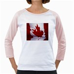 canadian-flag Girly Raglan