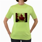 canadian-flag Women s Green T-Shirt