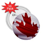 canadian-flag 2.25  Button (10 pack)