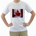 canadian-flag White T-Shirt
