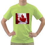 canadian-flag Green T-Shirt
