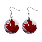 canadian-flag 1  Button Earrings
